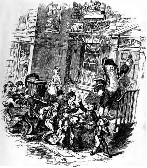sketches by boz charles dickens In may 1839, chapman and hall published these parts complete in one volume with all 40 of cruikshank's illustrations (walter e smith, charles dickens in the original cloth), hence the new edition referred to on the title page half title page has the vote for spruggins illustration, full page drawing before title page has.